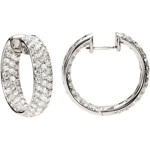18kt. W.G. Diamond Hoop Earrings