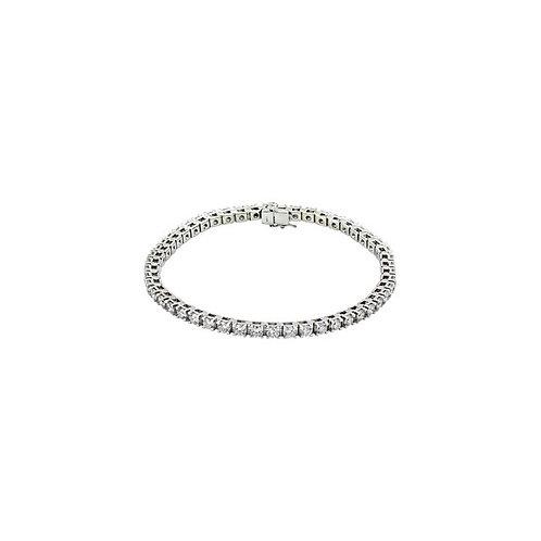 14kt White 4.5 cts. Diamond Tennis Bracelet