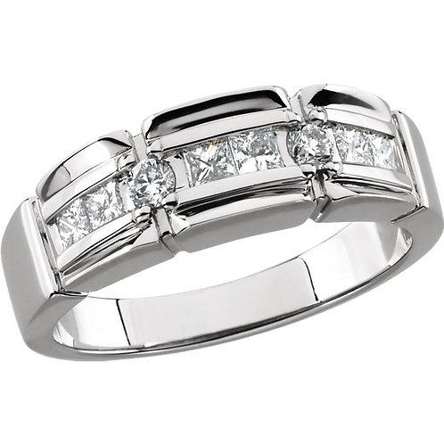 14kt. W.G. 0.50 ct Diamond Men's Ring
