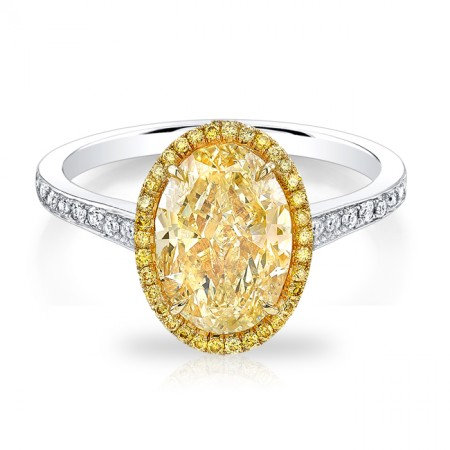 Fancy Yellow Oval Ring
