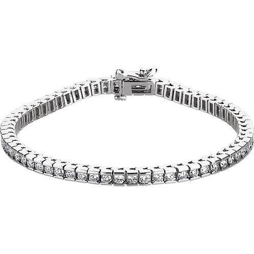 14kt. W.G. 3.75 ct Diamond Bracelet