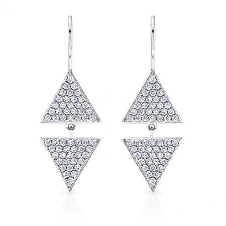 Double Triangle Drop Earrings