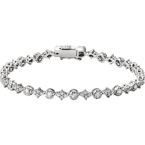 14kt. W.G. 2.50 ct Diamond Bracelet