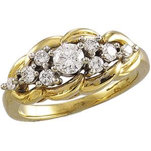 14kt. Y.G. 0.50ct. Diamond Ring