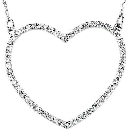 14kt Rose 0.25 ct Diamond Small Heart Necklace