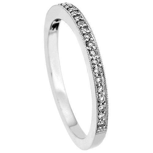 18kt. W.G 0.29 ct Diamond Wedding Band