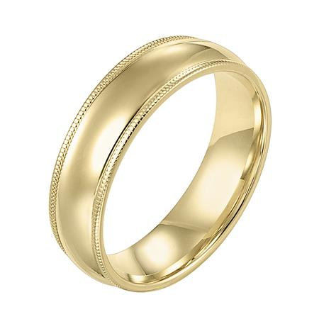 14 Kt. Yellow Gold Comfort Fit 6 mm Band