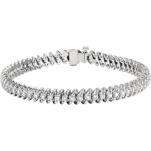 14kt. W.G. 1.25 ct Diamond Bracelet