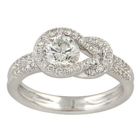 14kt. Knot Diamond Ring