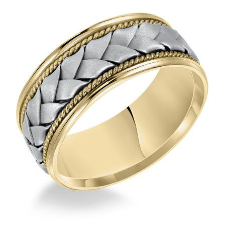 14kt. Comfort Fit Two-tone Gold Wedding Band
