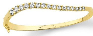 14kt. W.G. 2.00 ct Diamond Bangle Bracelet