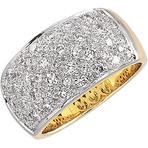 14kt. Tu-Tone 1.00ct. Diamond Ring