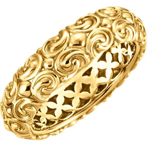 14kt Y.G. Stackable Sculptural Ring