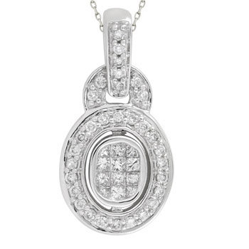 14kt. W.G. 0.38ct. Diamond Pendant
