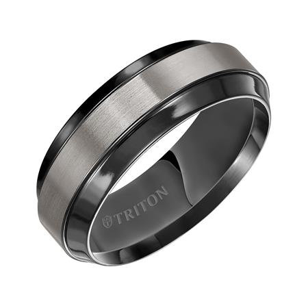 8mm Black Titanium Flat Band