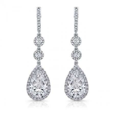 18kt. White Gold Dangle Earrings