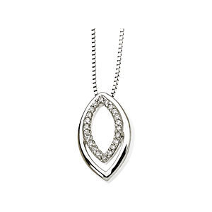 14kt. W.G. 0.10ct. Diamond Necklace