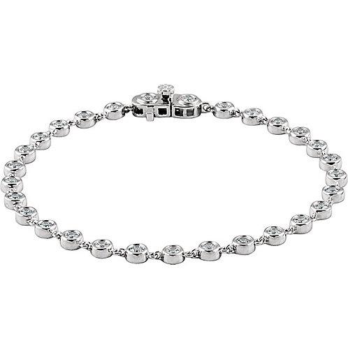 14kt. W.G. 2.00 ct Diamond Bracelet