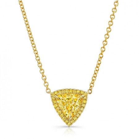 Trillion Pendant Necklace