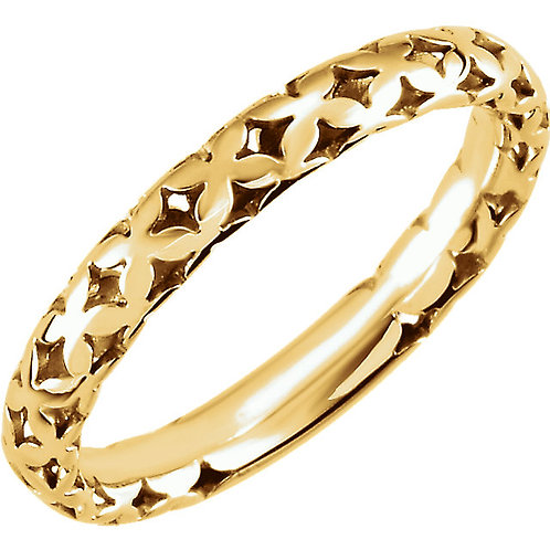 14kt Y.G. Stackable Pierced Ring