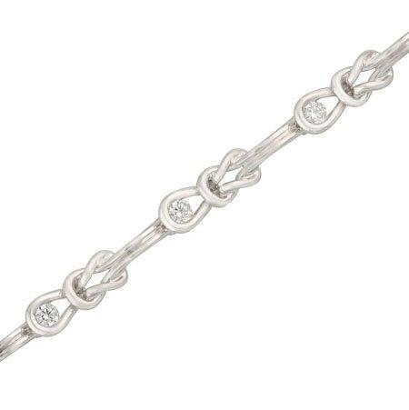 14kt. W.G. Knot Diamond Bracelet