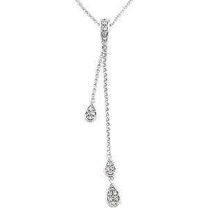 14kt. W.G. 0.17ct. Diamond Necklace