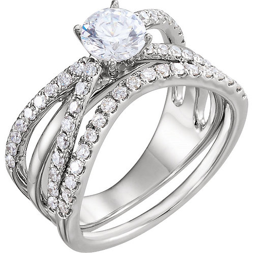14k W.G 0.50 ct Diamond Engagement Ring