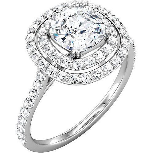 14k W.G 0.62 ct Diamond Engagement Ring