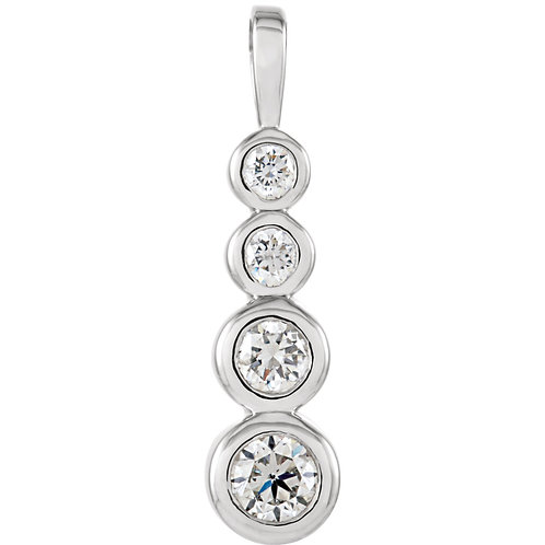 14kt. W.G. Journey 0.50 ct Diamond Pendant