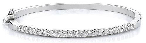 14kt. W.G. 1.70 ct Diamond Bangle Bracelet