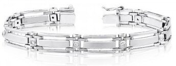 14kt. W.G. 0.50 ct Diamond Men's Bracelet