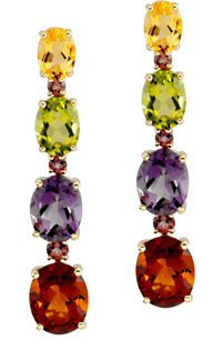 14kt. Y.G. Multicolor Stone Earrings
