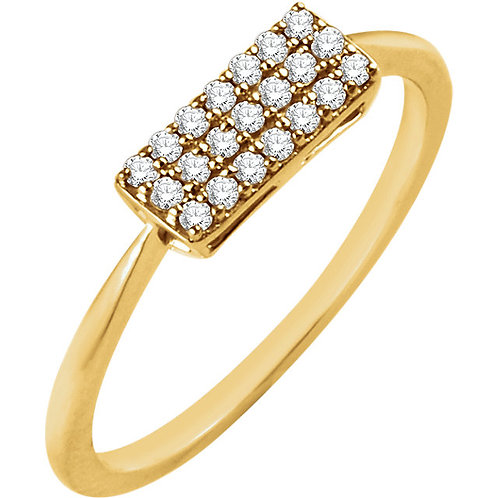 14kt. W.G 0.16ct Diamond Rectangle Ring