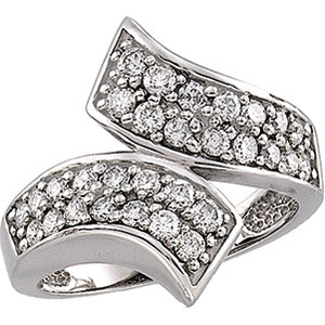 14kt. W.G 1.00ct. Diamond Right Hand Ring