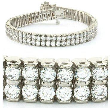 14kt. W.G. 5.00 ct Diamond Bracelet