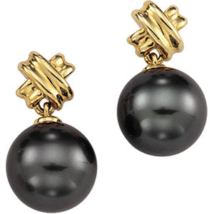 14kt. Y.G. Pearl Earrings