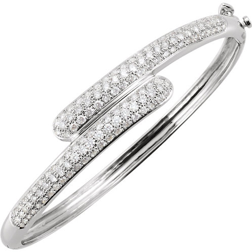 14kt. W.G. 3.00 ct Diamond Bangle Bracelet