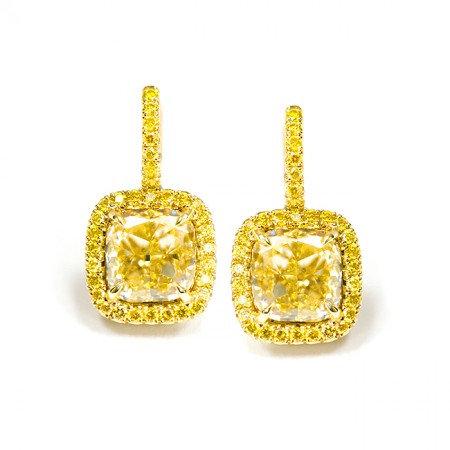 18ke Yellow Gold LeverBack Earrings