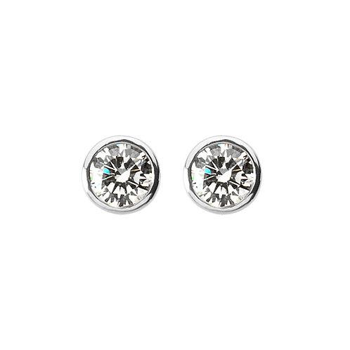 Platinum 0.50ct Stud Earrings