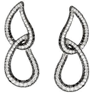 14kt. W.G. Black & White Diamonds