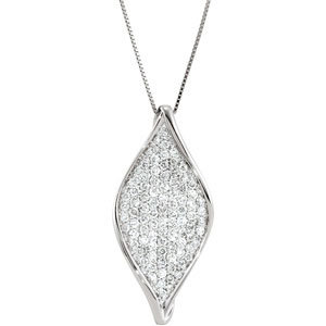 14kt. W.G. 1.00 ct  Diamond Pendant