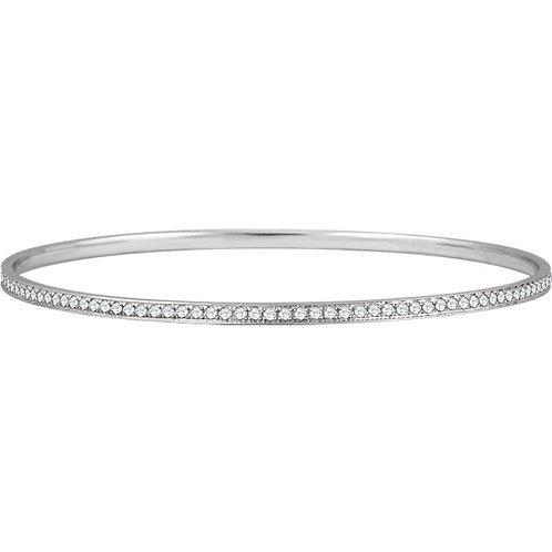 14kt. W.G. 1.50 ct Diamond Bangle Bracelet