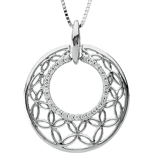 14kt. W.G. Diamond Circle Necklace