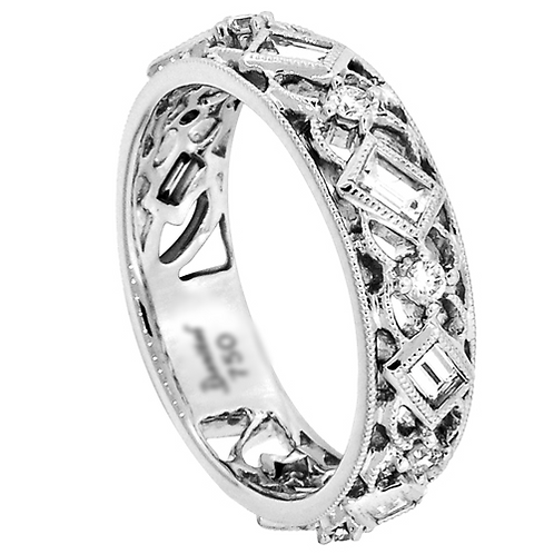 18kt. W.G. 0.59 ct Diamond Wedding Band