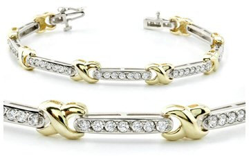 14kt. Tu-Tone 1.85 ct Diamond Bracelet