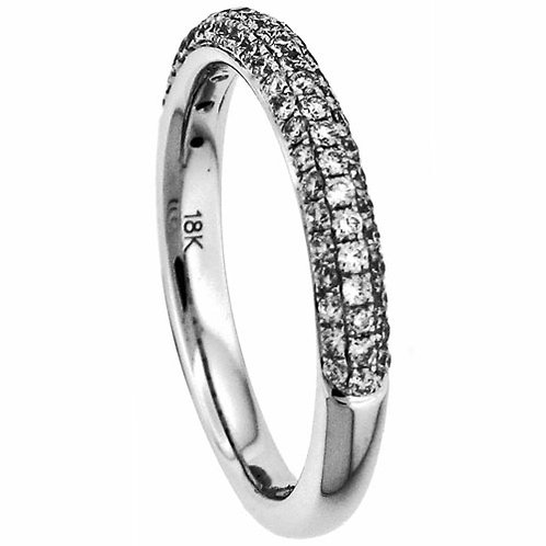 18 Kt. W.G. 0.85 ct Diamond Wedding Band