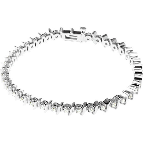 14kt. W.G. 1.50 ct Diamond Bracelet