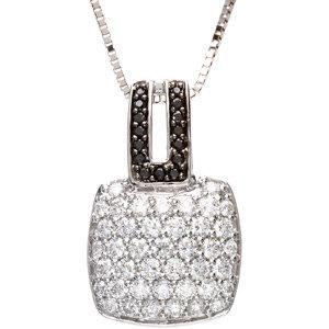 14kt. W.G. 1.25 cts. Diamond Pendant