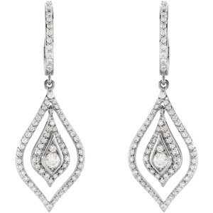 14kt. W.G. Diamond Earrings