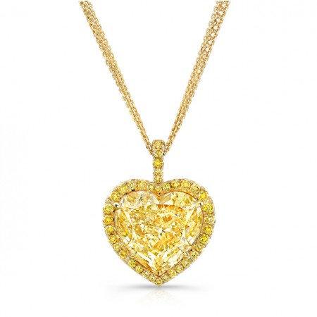 FY Heart Shape Diamond Pendant